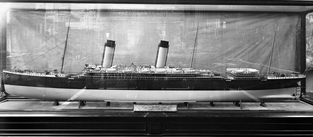 Detail of Model of the 'Oceanic' (1899) by Bedford Lemere & Co.
