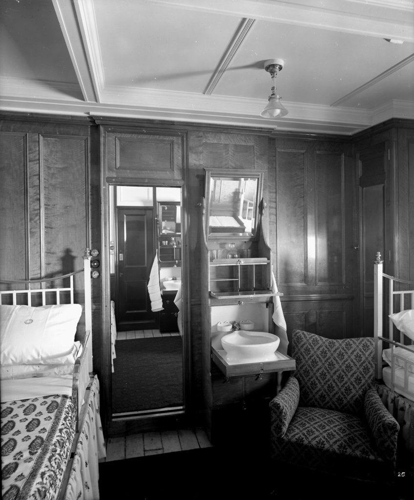 Detail of First Class suite on the 'Balmoral Castle' (1910) by Bedford Lemere & Co.