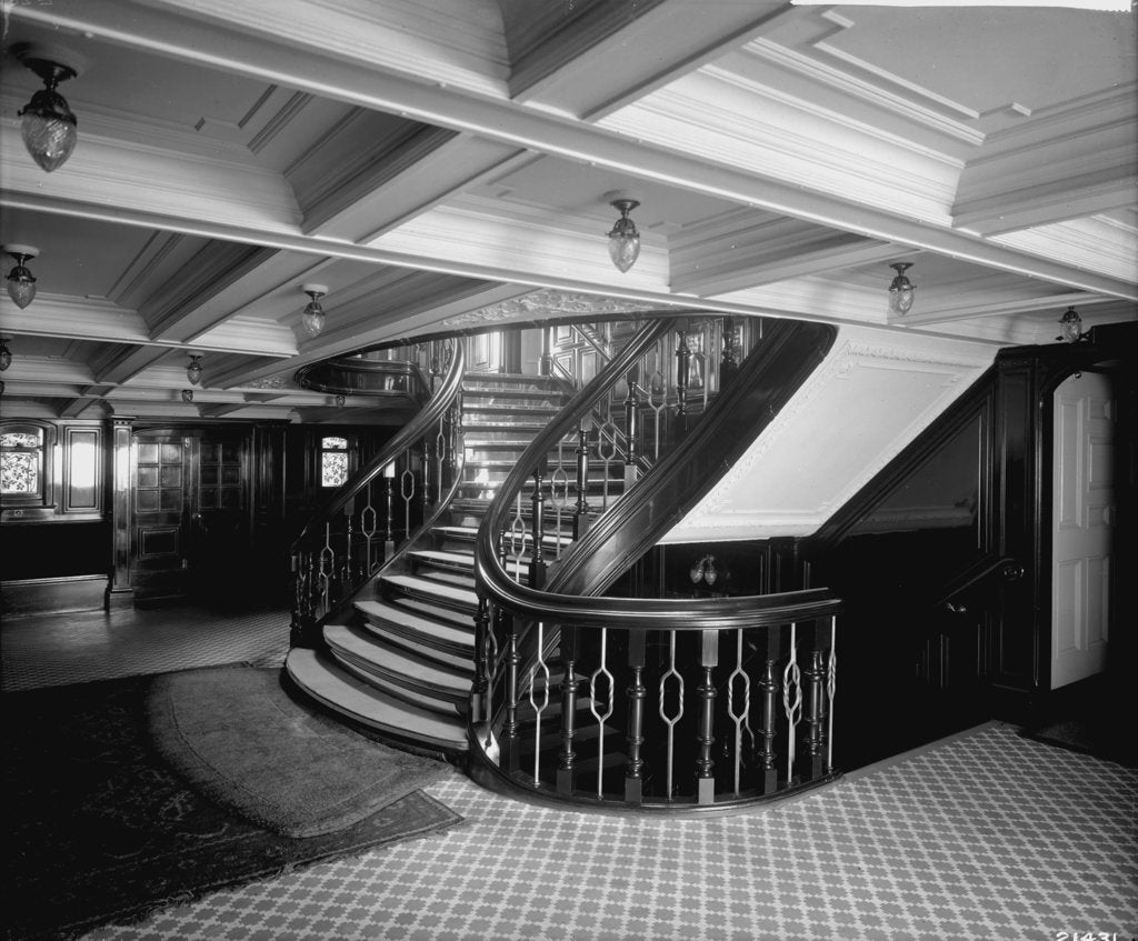 Detail of First Class Entrance on the Empress of Ireland (1906) by Bedford Lemere & Co.