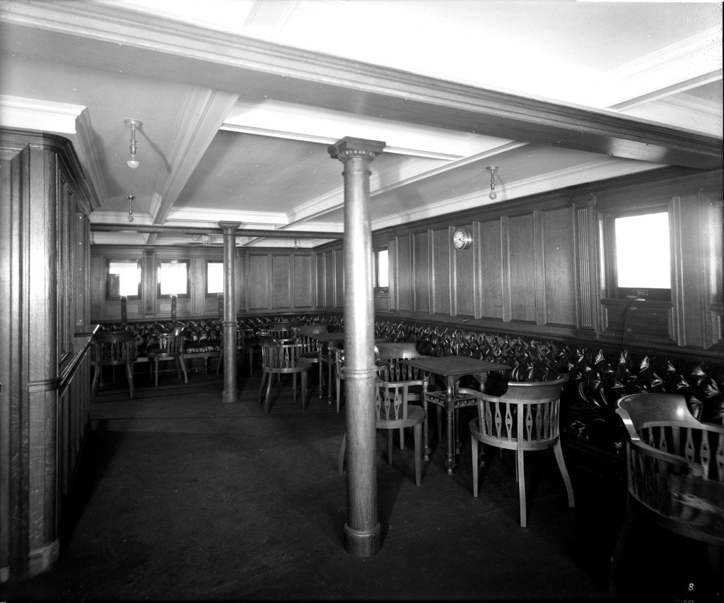 Detail of Second Class Smoking Room on the 'Orama' (1911) by Bedford Lemere & Co.