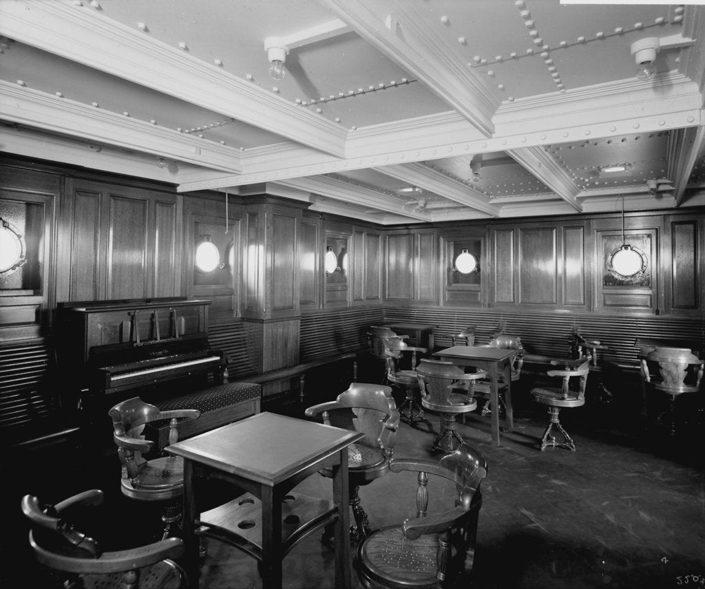 Detail of Intermediate Class General Room on the 'Orduna' (1914) by Bedford Lemere & Co.