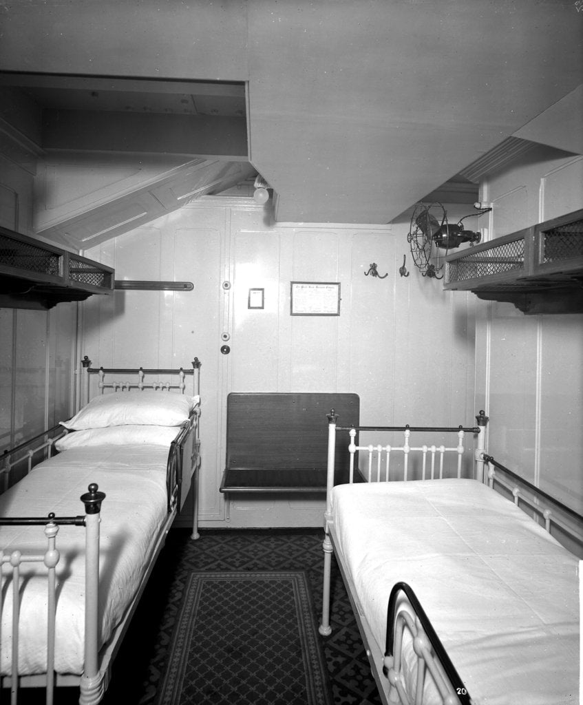 Detail of First Class stateroom on the 'Orduna' (1914) by Bedford Lemere & Co.