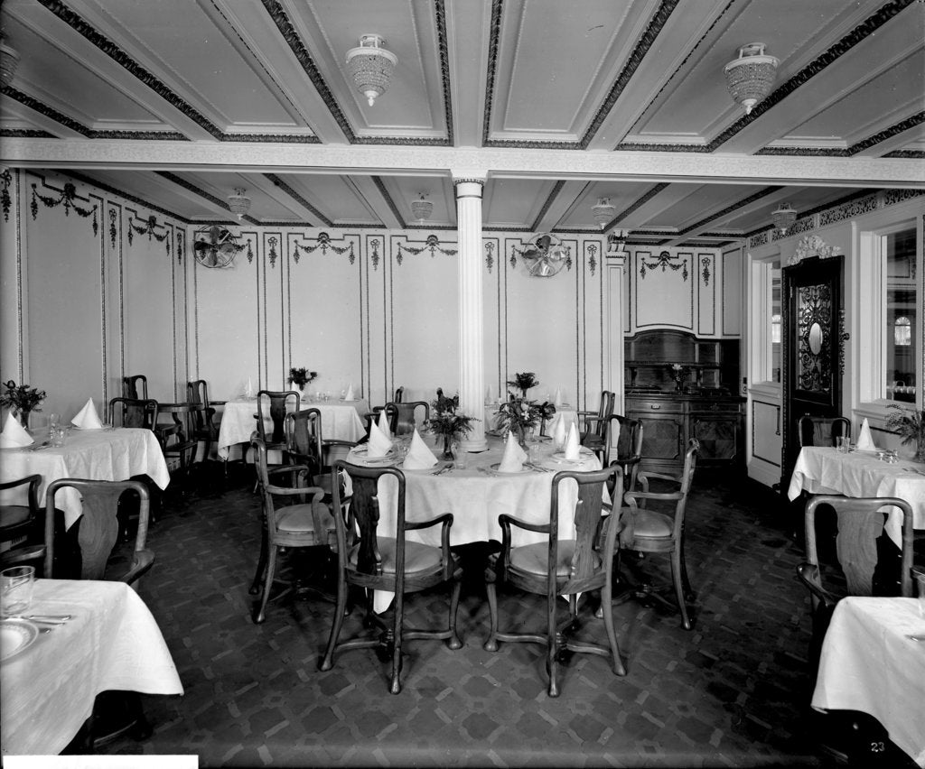 Detail of First Class Nursery Dining Saloon on the 'Orduna' (1914) by Bedford Lemere & Co.
