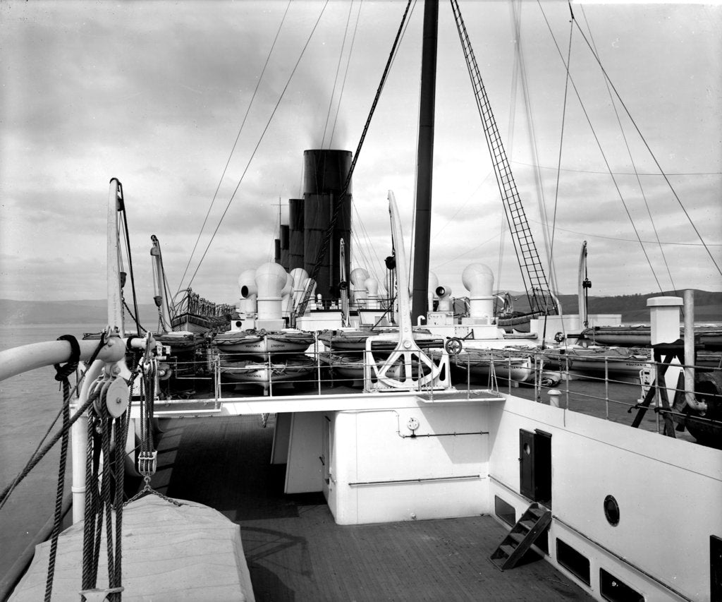 Detail of View from the Docking Bridge on the 'Aquitania' (1914) by Bedford Lemere & Co.
