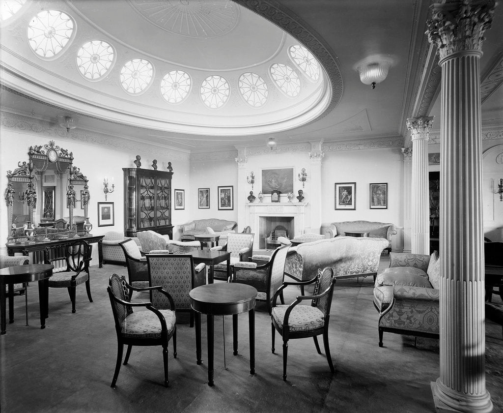 Detail of First Class Drawing Room on the 'Aquitania' (1914) by Bedford Lemere & Co.