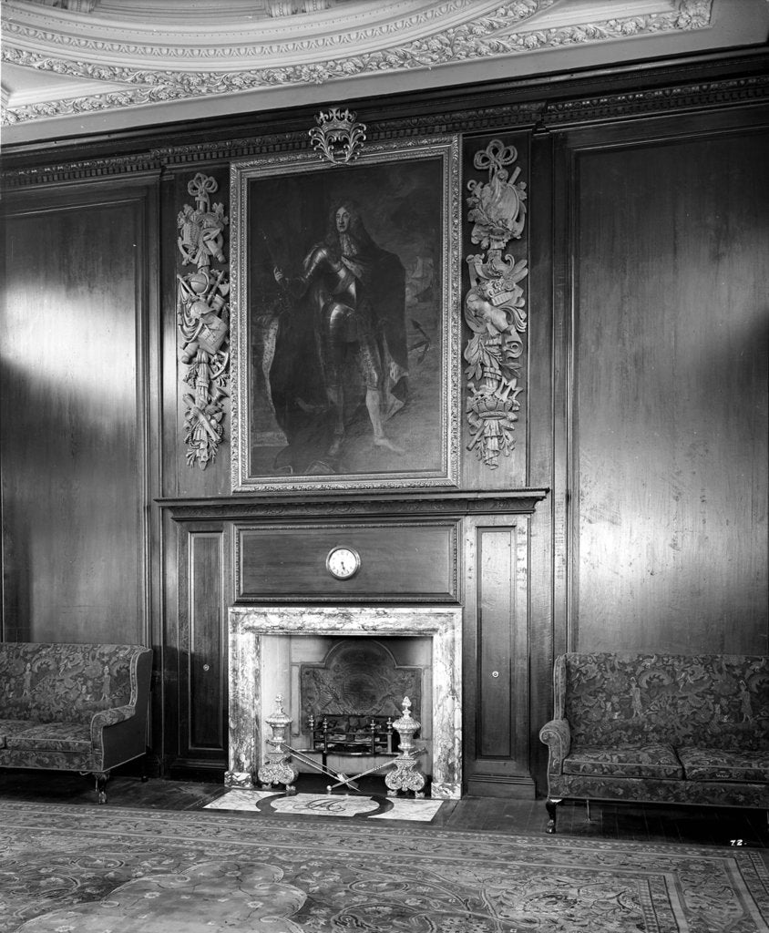 Detail of Fireplace in the First Class Smoking Room on the 'Aquitania' (1914) by Bedford Lemere & Co.