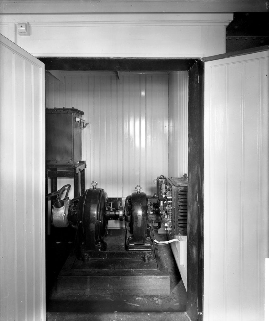 Motor Alternator Room on the 'Aquitania' (1914) by Bedford Lemere & Co.