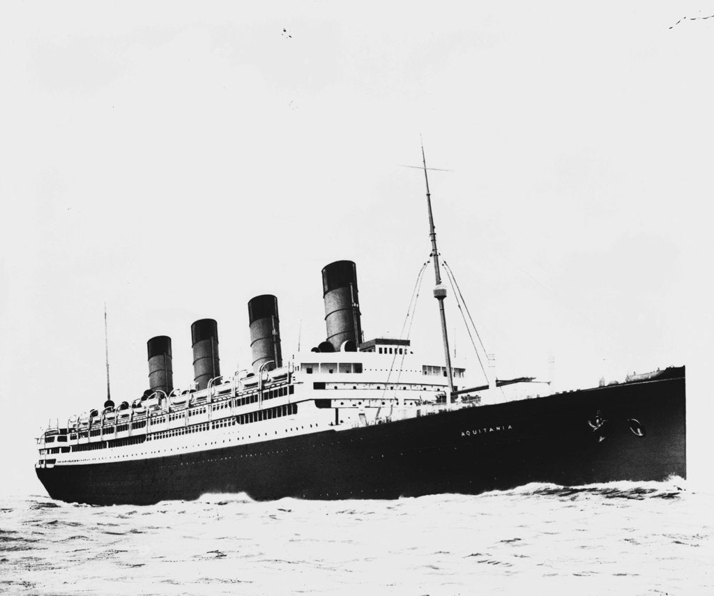 Detail of The passenger liner 'Aquitania' (1914) underway by Bedford Lemere & Co.