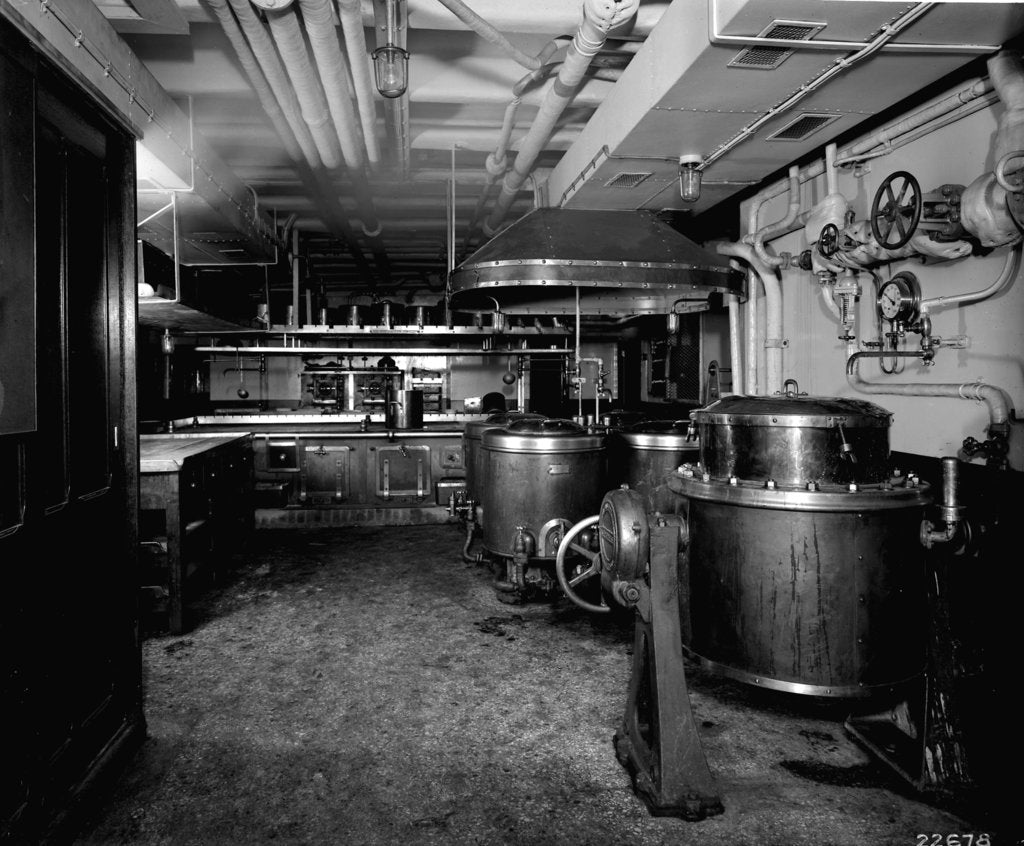 Detail of Second Class Galley on the 'Aquitania' (1914) by Bedford Lemere & Co.