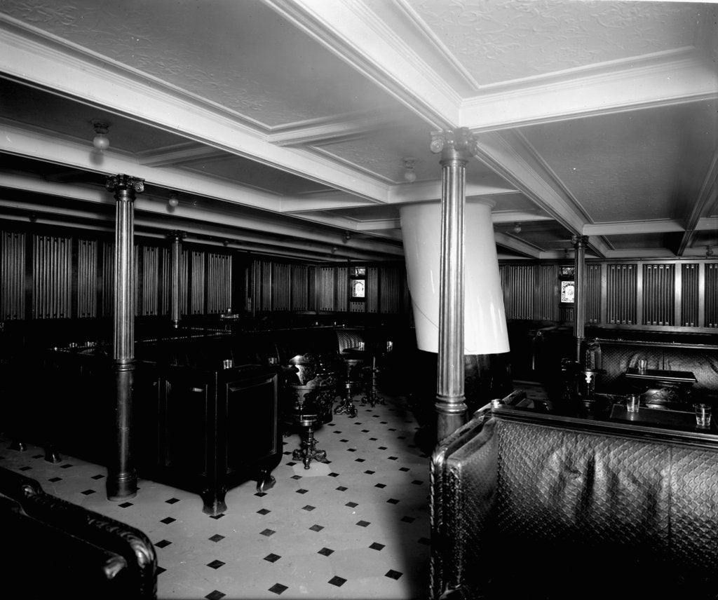 Detail of Second Class Smoking Room on the 'Adriatic' (1906) by Bedford Lemere & Co.