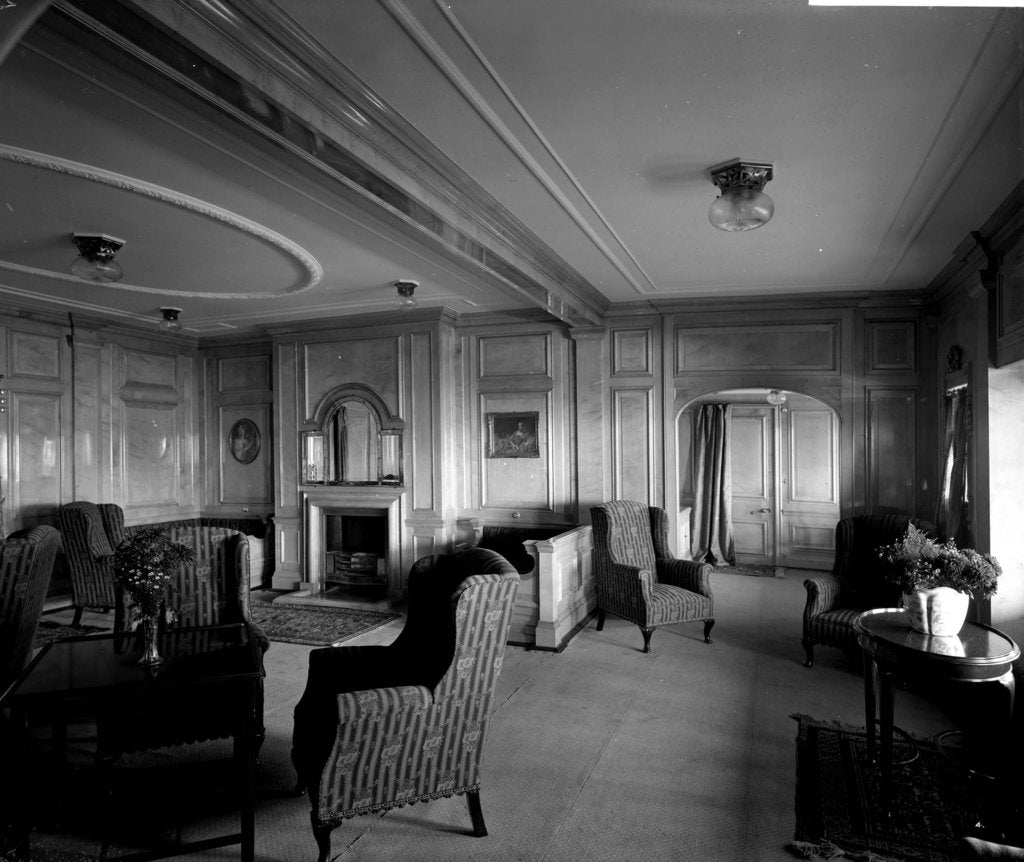 Detail of Cabin Class Drawing Room on the 'Missanabie' (1914) by Bedford Lemere & Co.