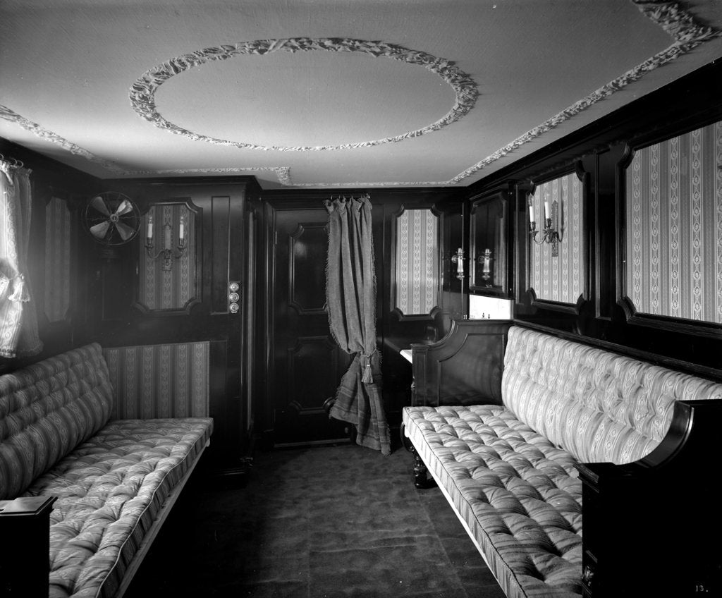 Detail of First Class special stateroom on the 'Ciudad de Buenos Aires' (1914) by Bedford Lemere & Co.