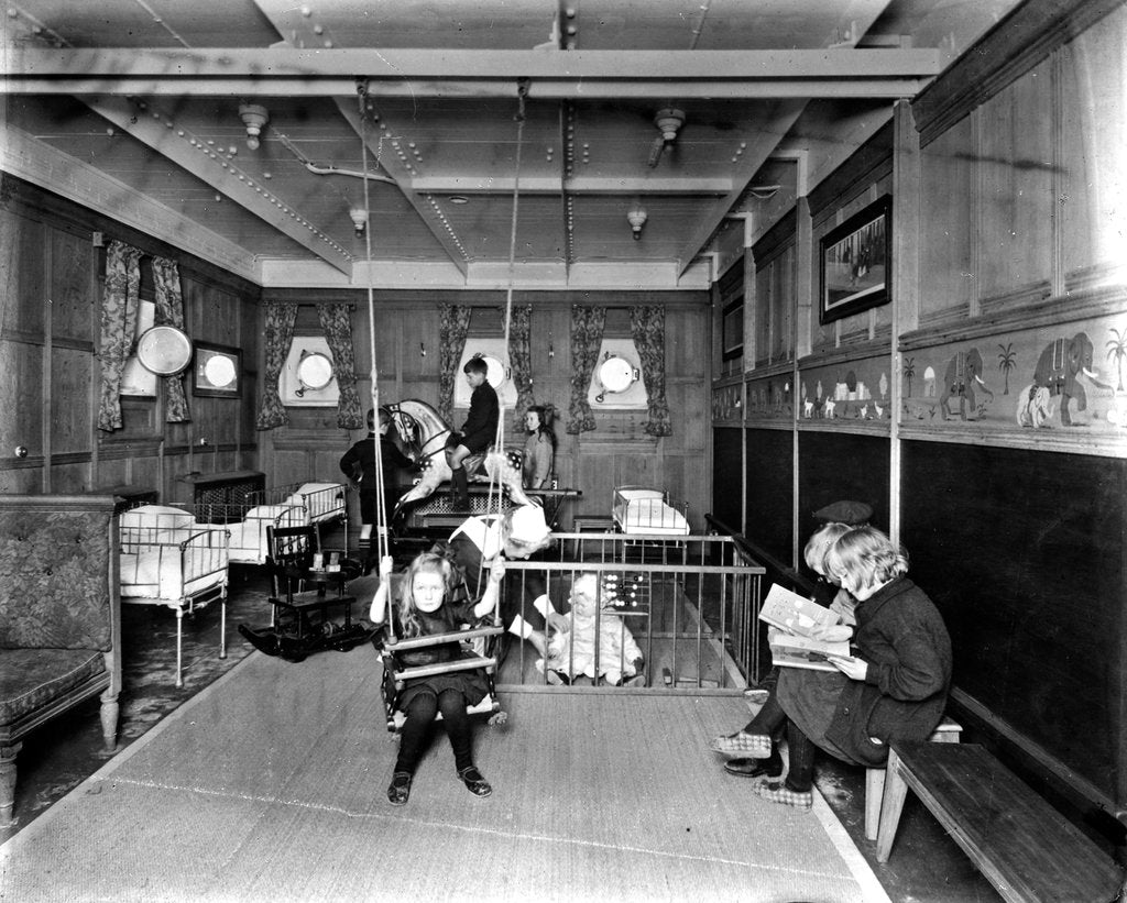 Detail of Cabin Class Nursery on the 'Metagama' (1915) by Bedford Lemere & Co.