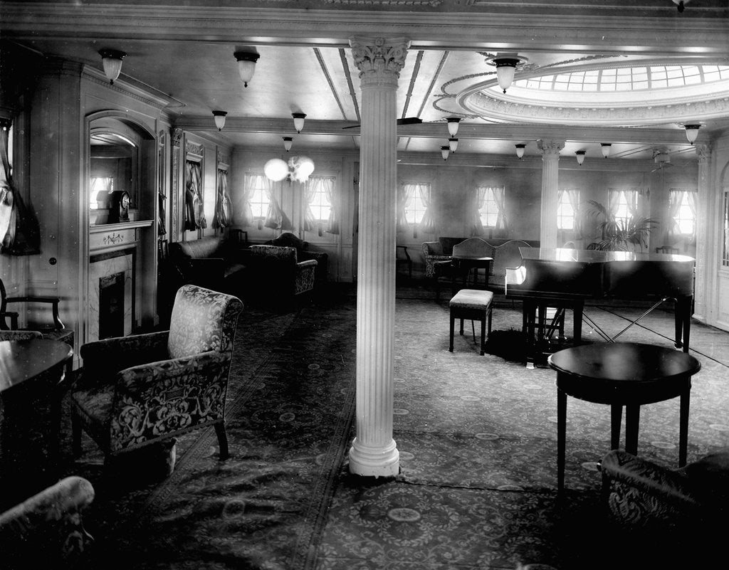Detail of First Class Music Room on the 'Niagara' (1913) by Bedford Lemere & Co.