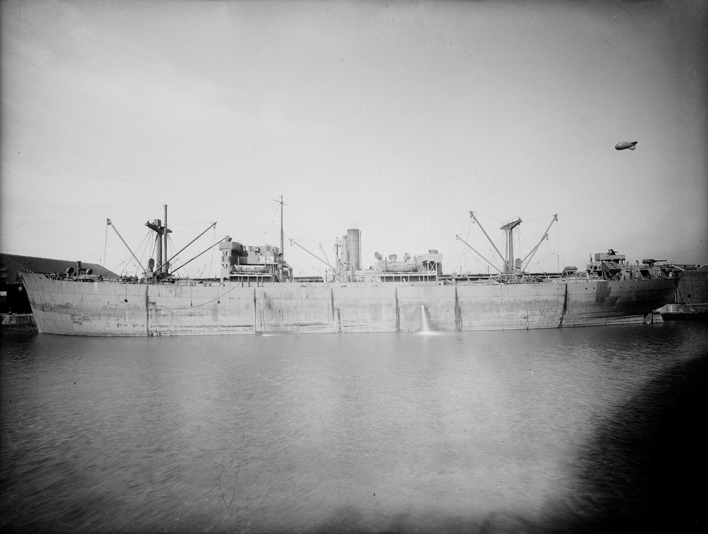 Detail of General cargo ship 'Empire Barrie' (1942) lying at quayside by unknown