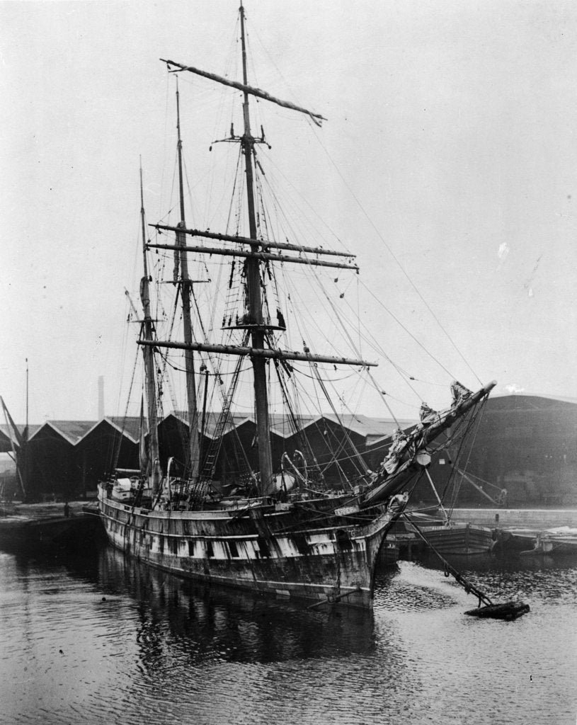 Detail of 'Ferreira' (1869) at the Albion Dock at Surrey Commercial Docks, London by unknown