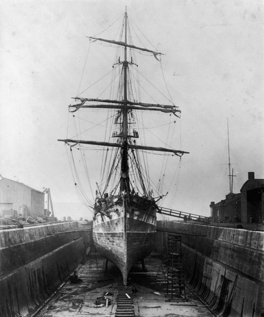 Detail of The 'Ferreira' in the New Lower Union Dry Dock, Limehouse by unknown
