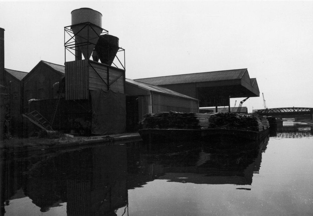 Abandoned industrial buildings on the Surrey Canal by unknown