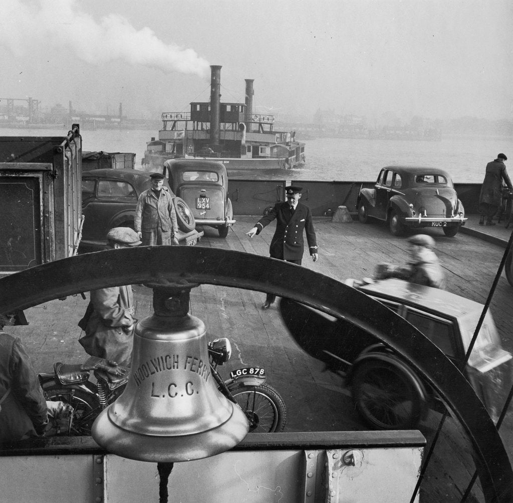 Detail of Directing traffic on a Woolwich ferry boat by Russell Westwood