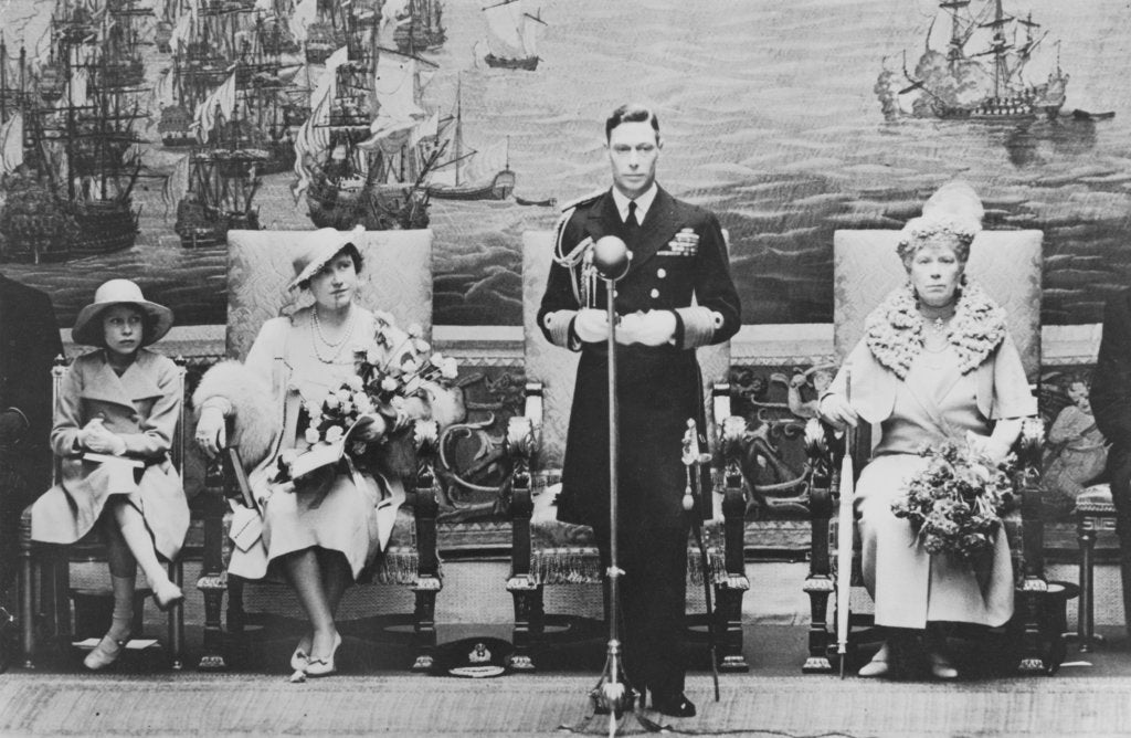 Detail of The Royal opening of the National Maritime Museum, 1937 by unknown