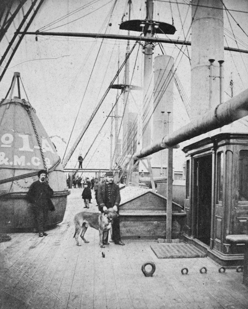 Detail of Deck view of Brunel's 'Great Eastern' (1858) by unknown