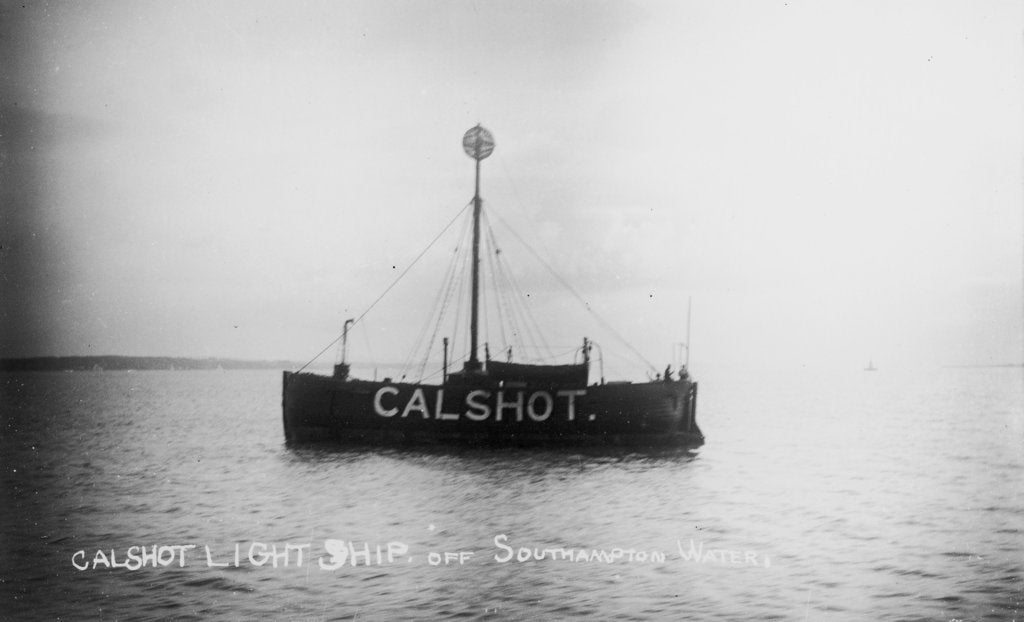 Detail of Calshot lightship off Southampton Water by unknown