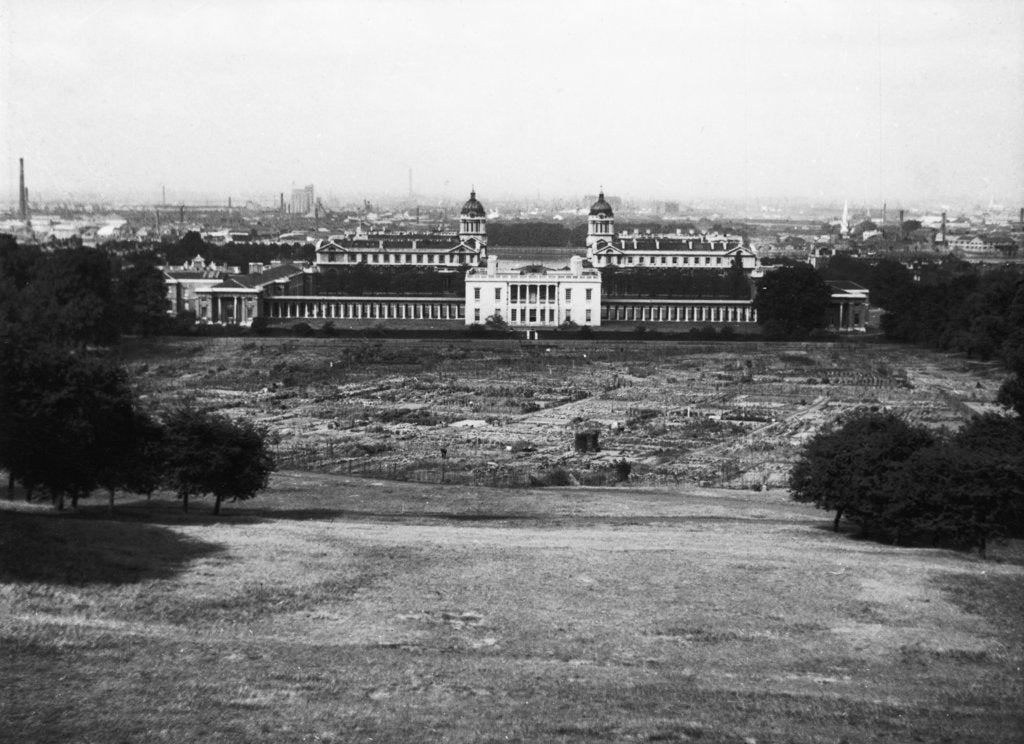 Detail of Allotments in Greenwich Park during the Second World War by unknown