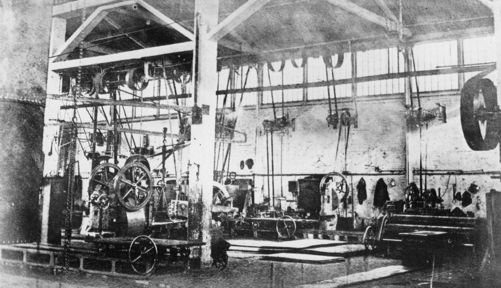Detail of The boiler shop of the Penn and Son Works at Deptford Pier by unknown