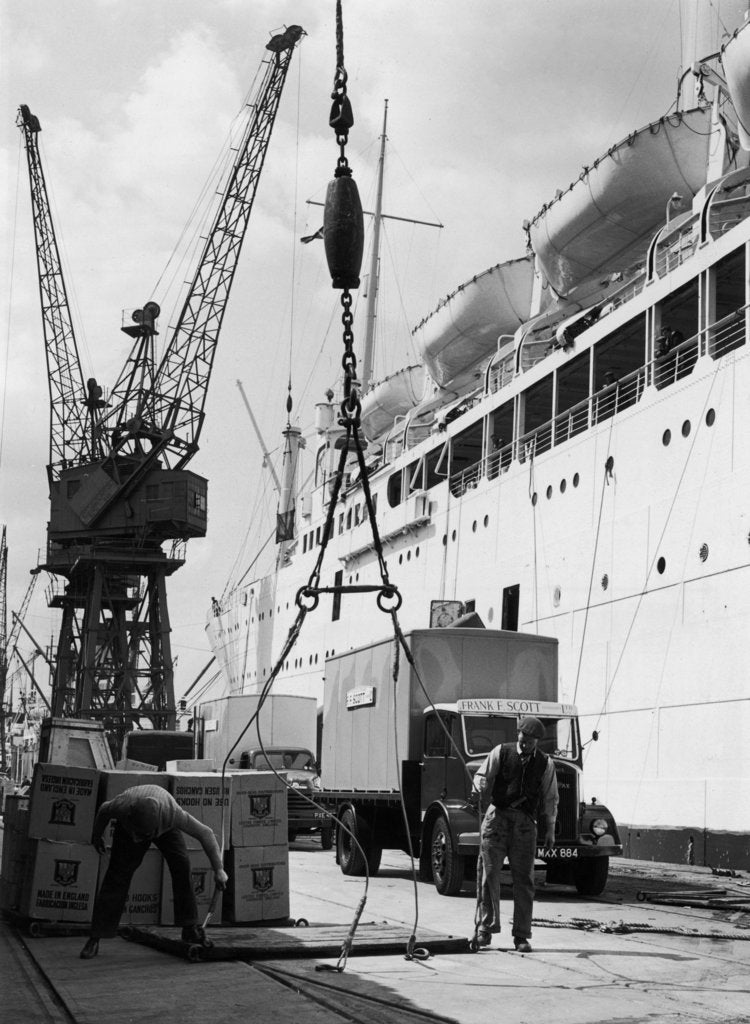 Detail of Loading the 'Corfu' at the King George V Dock by unknown