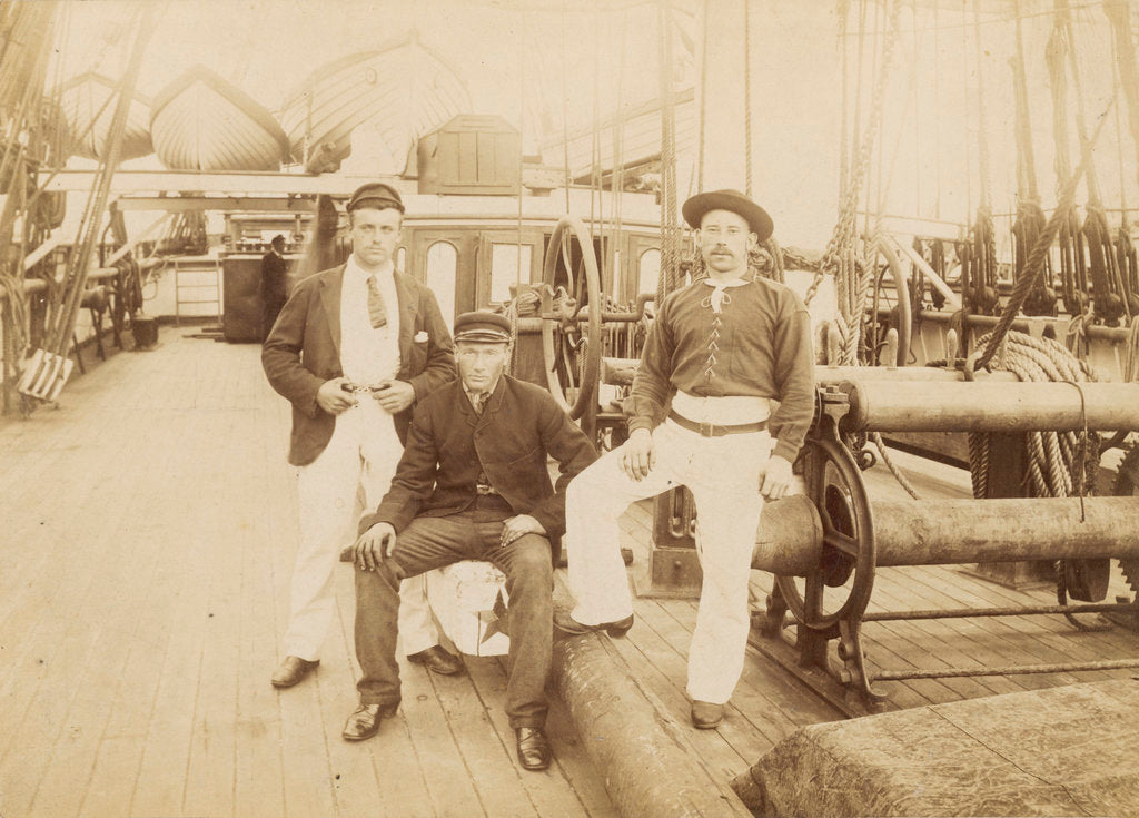 Deck of 'Cutty Sark' (1869) under Captain Woodget by unknown