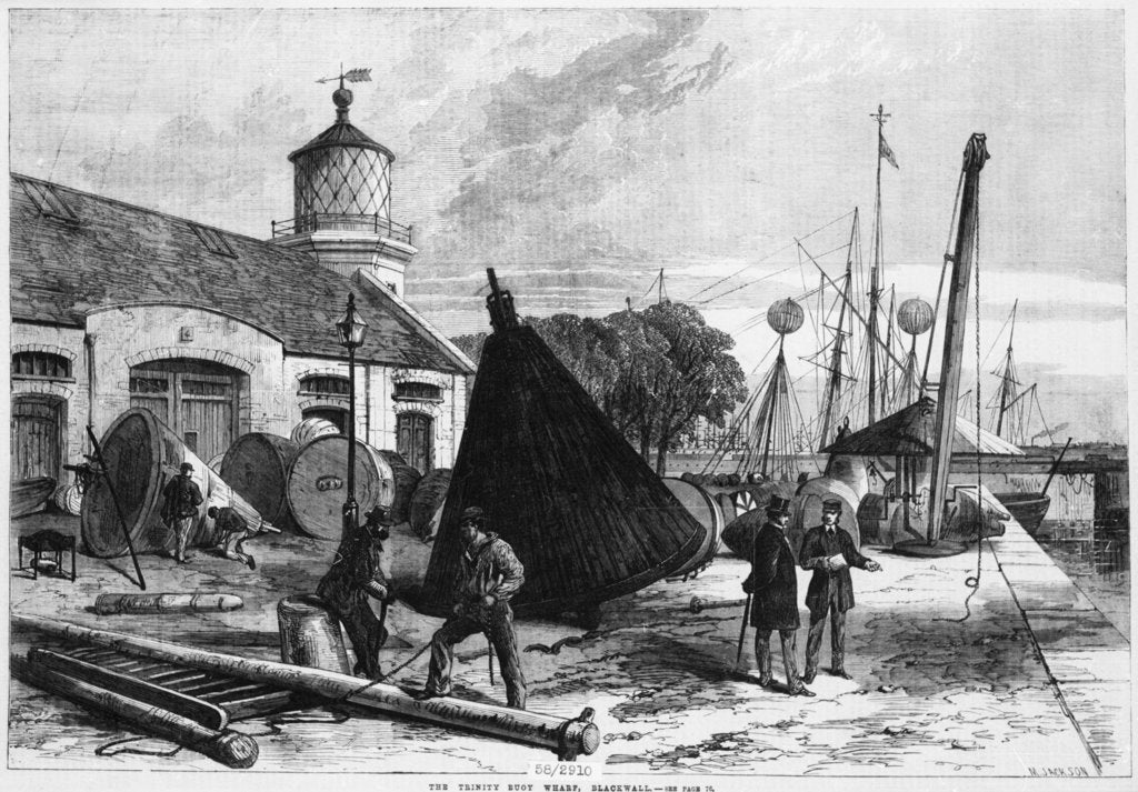 Detail of Trinity Buoy Wharf, 1868 by Illustrated London News