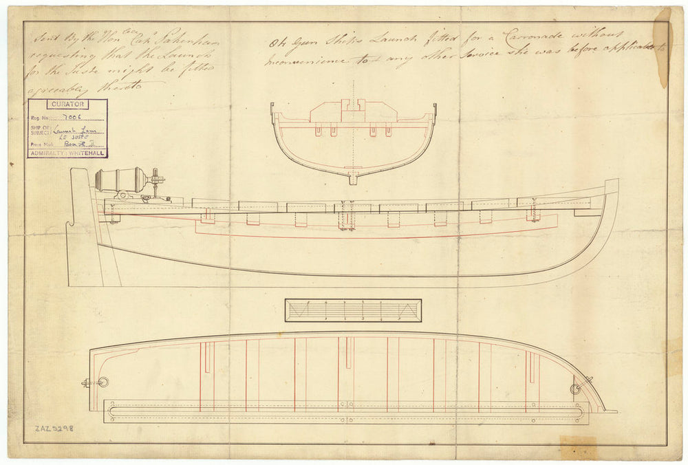 27ft armed launch for Juste (1794)