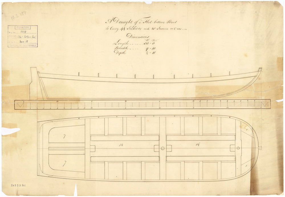 33ft Flat-bottomed Boat (no date)