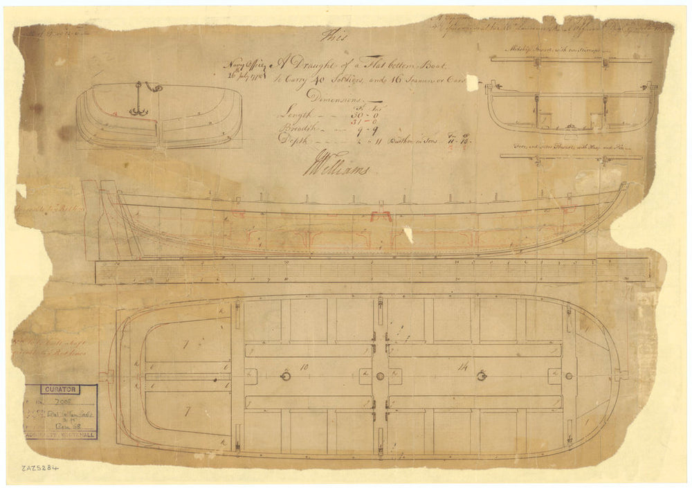 30ft Flat-bottomed Boat (1775)