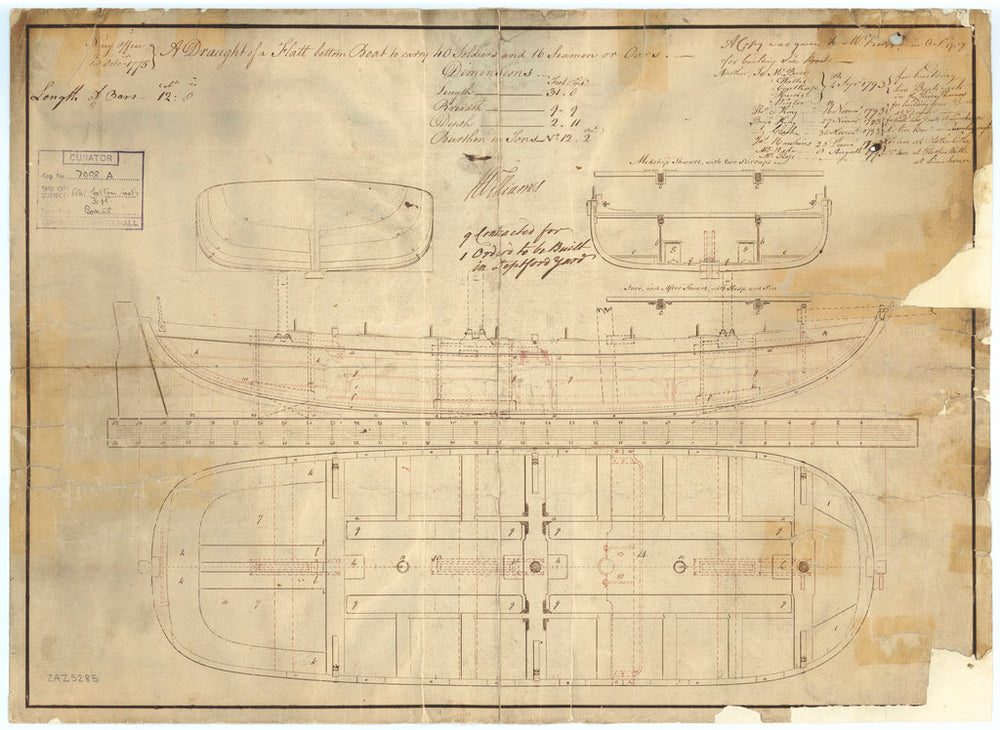 31ft Flat-bottomed Boat (1775)