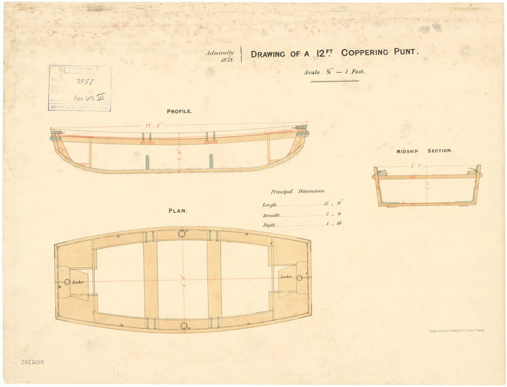 12 ft Coppering Punt (circa 1878)