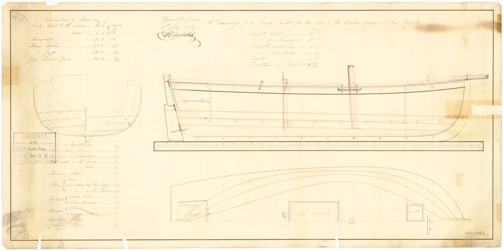 31ft Powder Barge (1825)