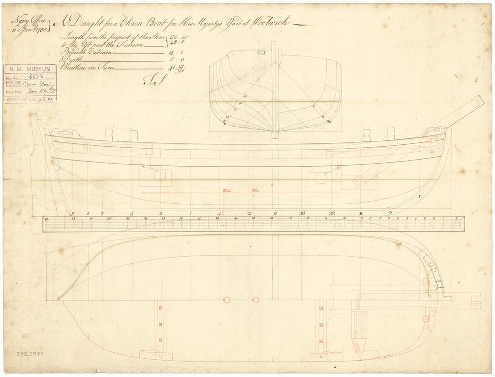 45ft Chain Boat (1758)
