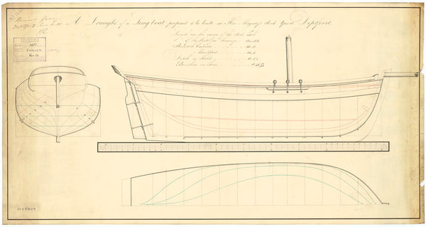 45ft Longboat (possibly 'Swallow' (1812))