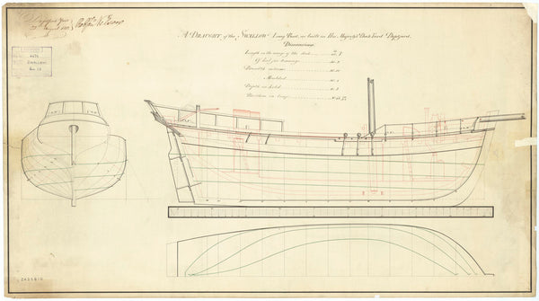 Plan of 'Swallow' (1812)