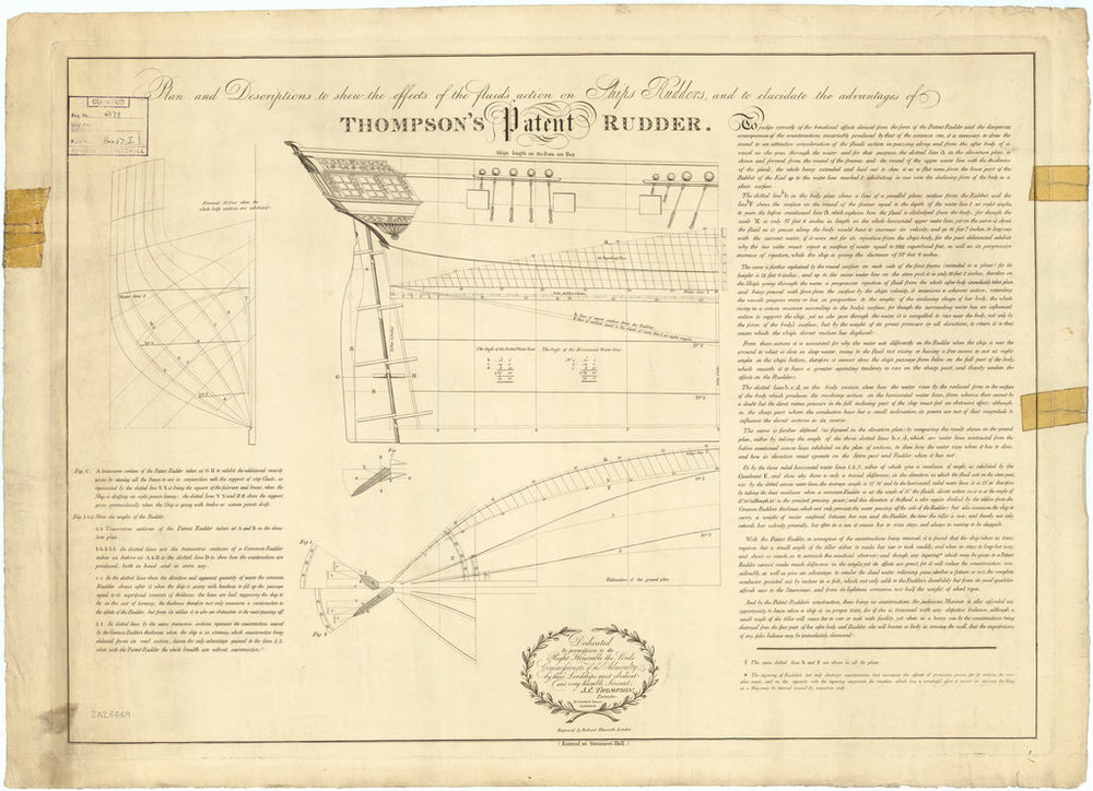 Thompson's Patent Rudder (no date)