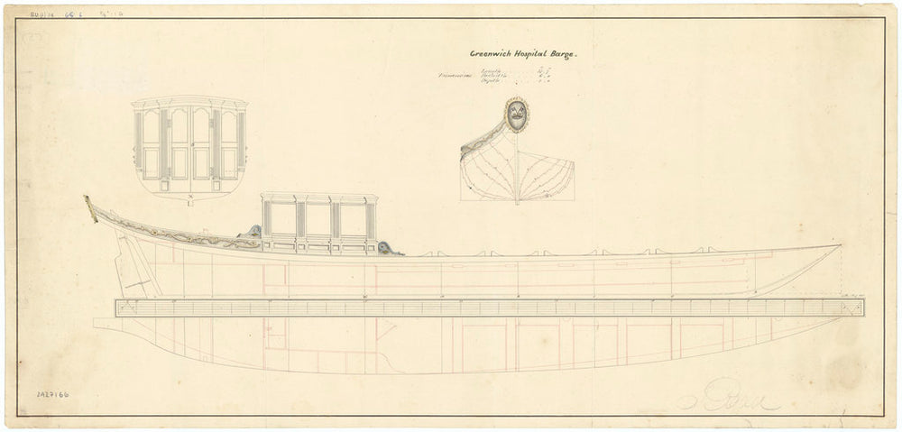 37 ft Greenwich Hospital Barge