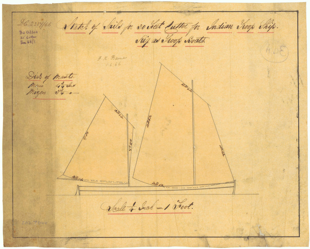 30 ft Cutter for Indian Troopships