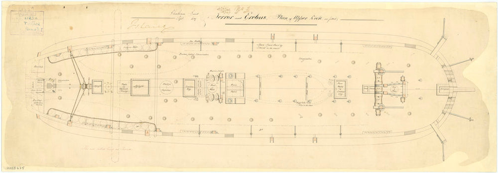 Upper deck plan of 'Terror' (1813)