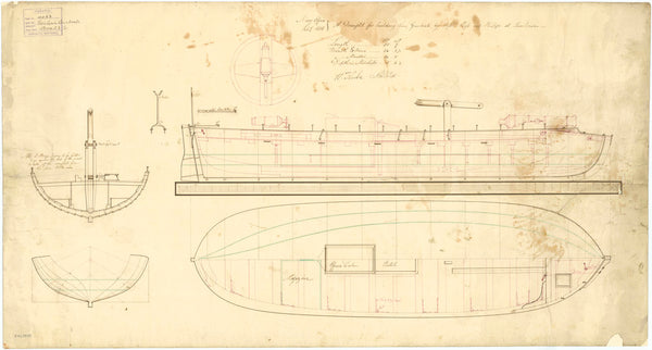 Lines & Profile plan for Gunboats