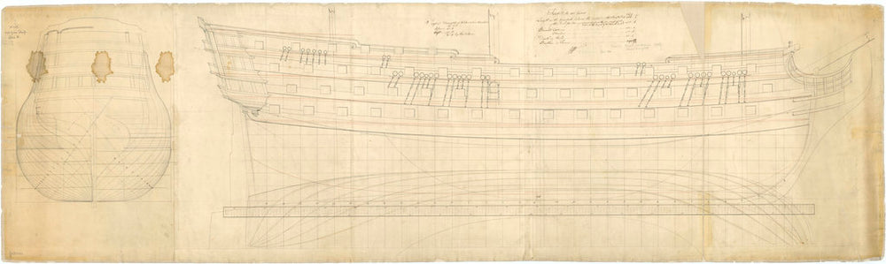 100-gun Ship, possibly Royal Sovereign (1786)