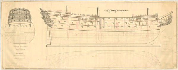Body plan for HMS 'Victory' (1765)