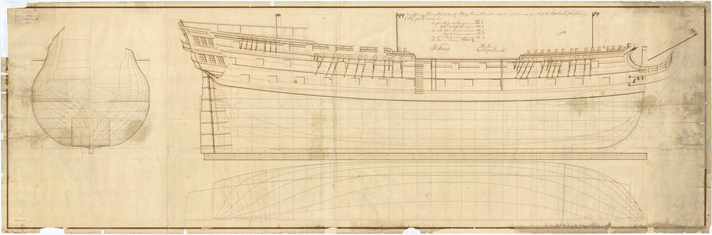 Plan of HMS 'Elephant' (1786)