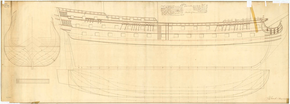 Unnamed 161ft 74-gun Third Rate, two-decker, possibly the 'Culloden' (1747)