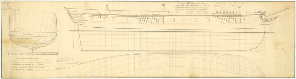 Lines and profile plan of 'Venera' (fl. 1808)